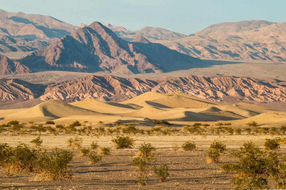 Mesquite Flat Sand Dunes at sunset, Death Valley