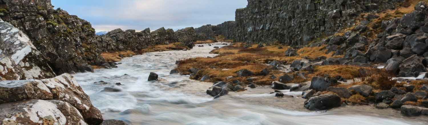 River in Thingvellir National Park, Iceland