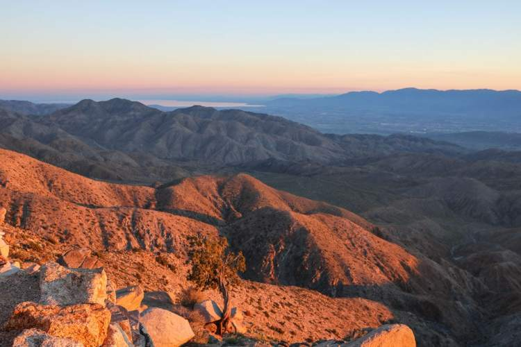 Sunset at Keys View, Joshua Tree National Park Attractions