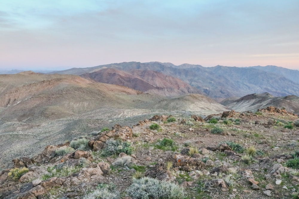 Mountain landscape in Death Valley National Park