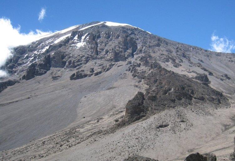 Kilimanjaro summit ridge from Barafu Camp