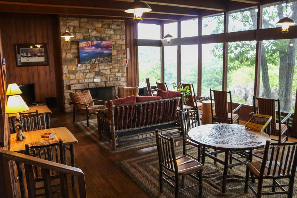 Reading room, Skyland Resort, Shenandoah National Park