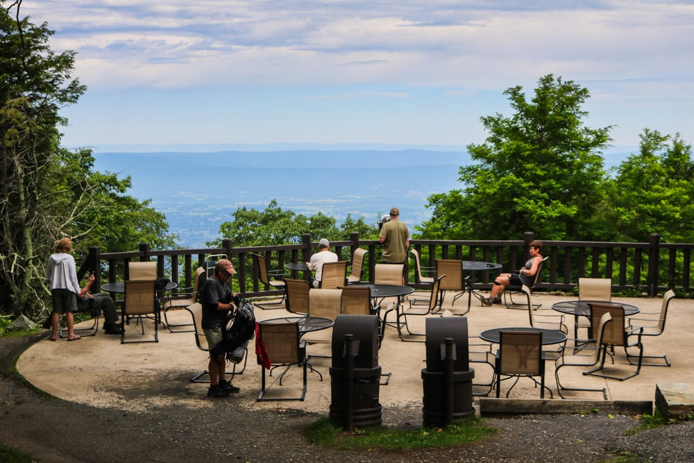 Viewing platform at Skyland, Shenandoah National Park