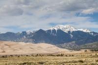Sand dunes and Sangre de Cristo Mountains, Colorado