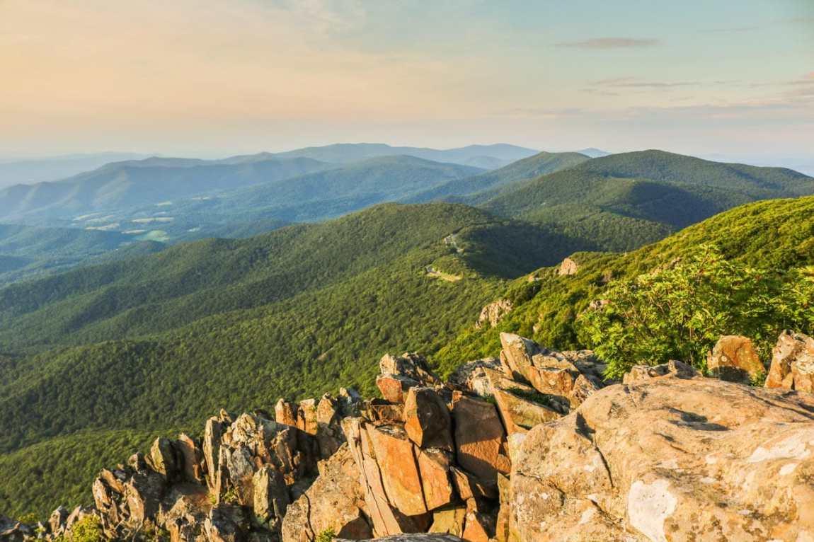 Skyline Drive seen from Stony Man, Best Sunset Spots in Shenandoah National Park, Virginia