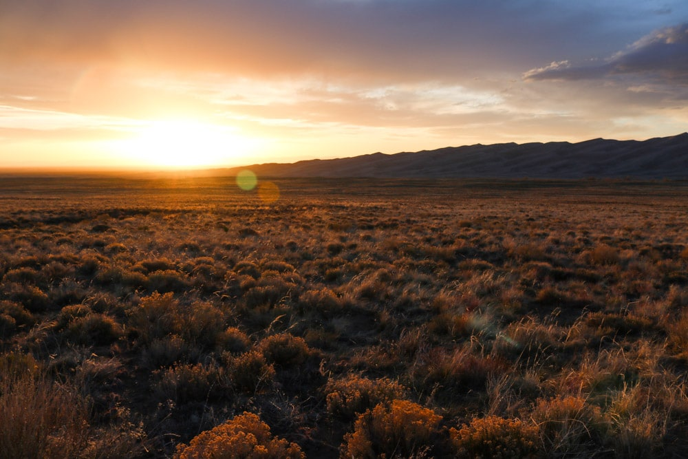 Sunset in Great Sand Dunes National Park, Colorado