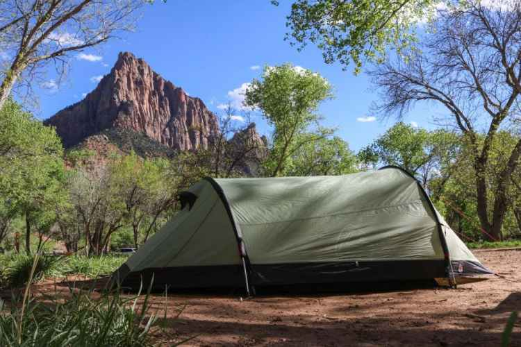 South Campground tent, Zion National Park