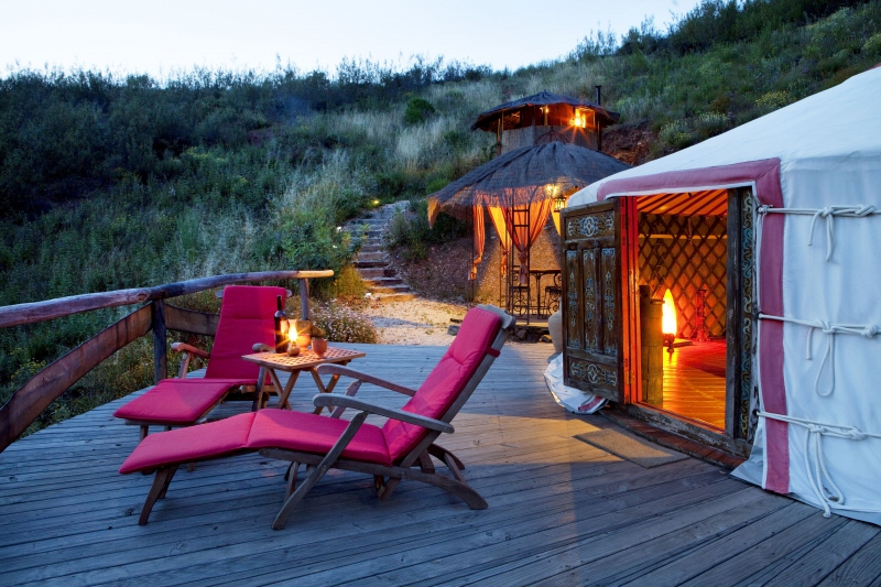 PORTUGAL  Algarve ECOLode ab 10 EUR Camping in Jurten