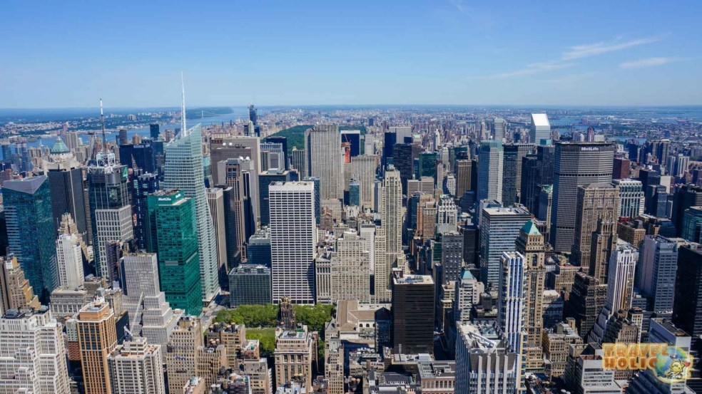Les buildings de New York vus d'en haut