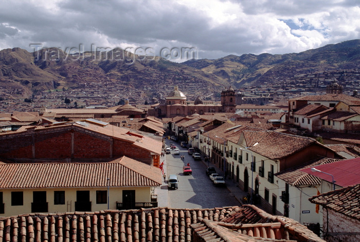 peru130: Cuzco, Peru: the beautiful tile roofs of the Andean city of Cuzco - photo by C.Lovell - (c) Travel-Images.com - Stock Photography agency - Image Bank