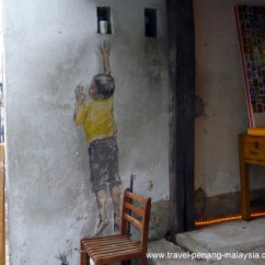 Swing Chair Penang Mcguire Rattan Chairs Street Art Location Map Wall Painting Photos Boy On