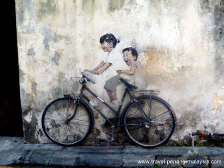 swing chair penang office for short person street art location map wall painting photos