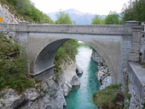 Napoleon bridge over river Soča