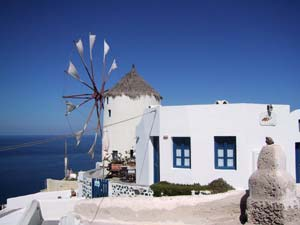 Mylos cafe. Cafe in Oia Santorini Greece