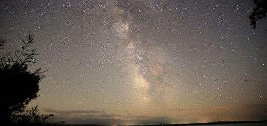 The stars over Lake Kyzyl-Art, Kyrgyzstan