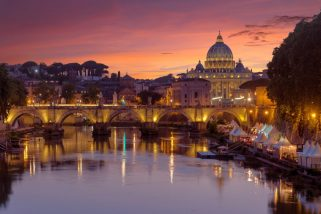 Rome and The Vatican in the Background