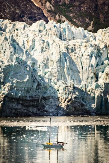 Sailing in front of Margerie Glacier
