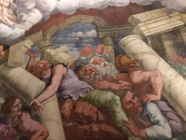 Falling of the Giants, Palazzo Te, Mantua, Mantova