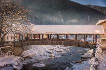 Covered Bridge in the Italian Alps