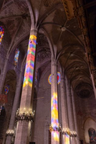 The lights inside Inside the Gothic Cathedral