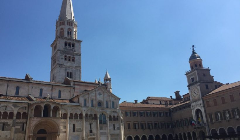 The Main Piazza in Modena, Italy