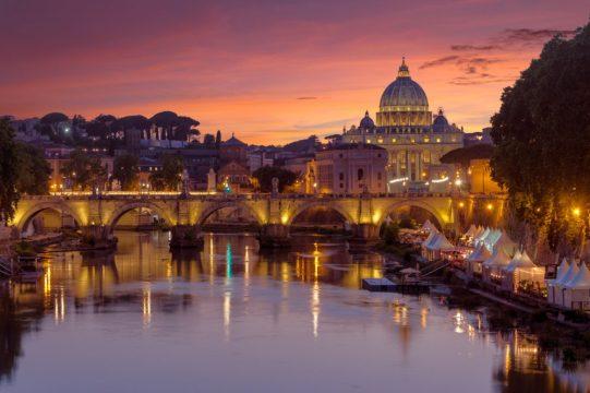 Saint Peter's at sunset