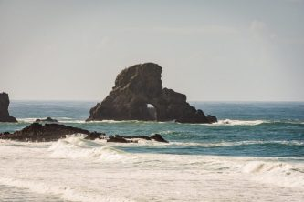 From Astoria to Cannon Beach - Beautiful Rock Formations at Ecola State Park