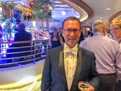 Cruise ship Champagne flowing on sea days