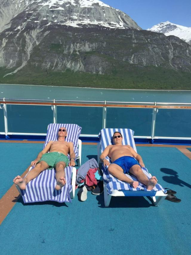 People traveling in a cruise in Alaska - Who Wouldn't Love that?