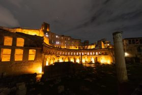 Traino Markets at night - Best to See on Day two or three of your Best of Rome itinerary