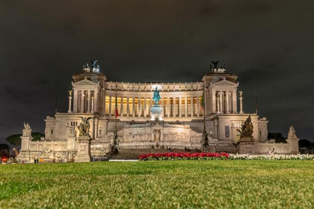 Altare della Patria in Rome is Better known as the typewriter, and best seen lit up at night
