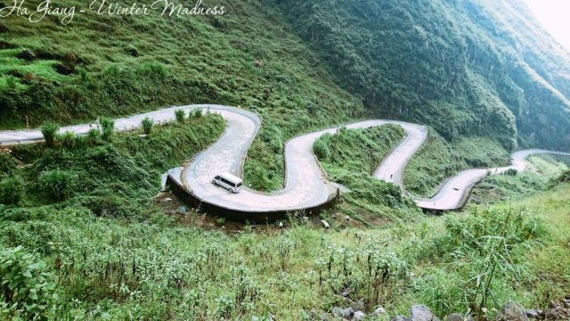 The road from Du Gia to Mau Due Vietnam