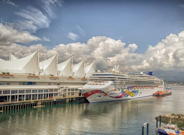 The Norwegian Jewel in the Cruise Ship Terminal of Vancouver