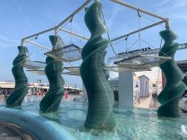 Beach Vacation in Riccione Italy - Water feature on the Lungomare