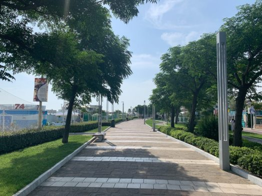 Beach Vacation - Pedestrian Path in Riccione Italy