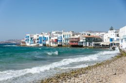 Mykonos - The Mediterranean was quite choppy here - fun times on the cruise ship!