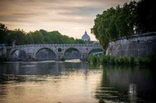 Sunset on the Lungotevere