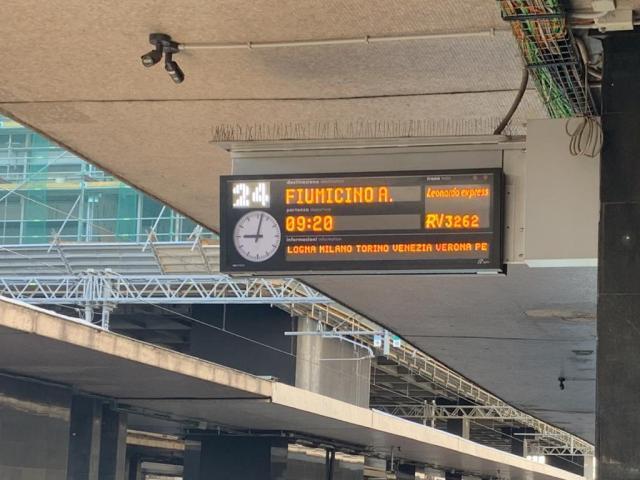 Fiumicino Express platform