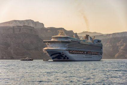 Our Cruise Ship in the Mediterranean - Santorini, Greece