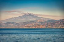 Mount Etna from the Messina Strait