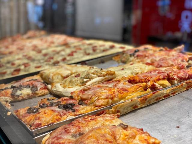 Sicilian style Pizza or Pizza al taglio