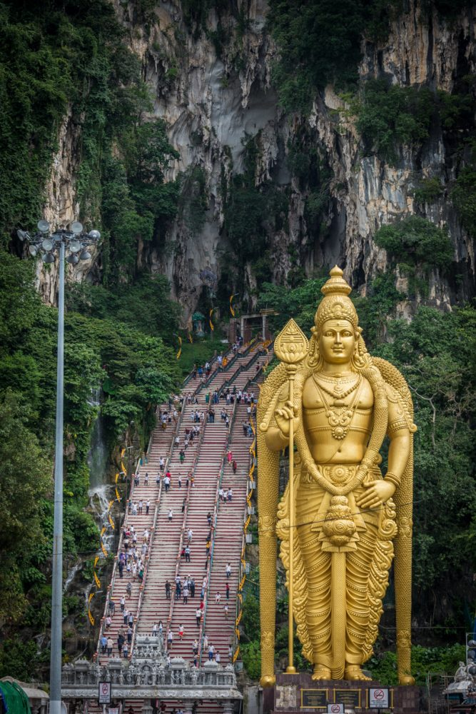 Batu Caves entrance - Malaysia - On our Asian Cruise