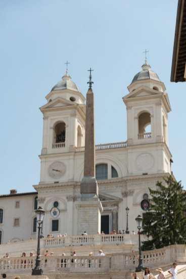Trinità dei Monti on top of the Spanish Steps
