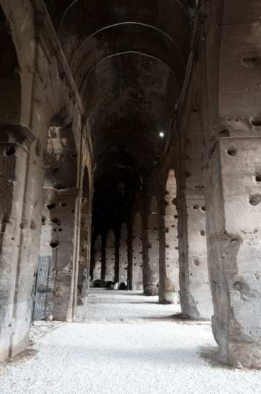 Walking inside the Colosseum