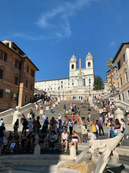 Rome, the Spanish Steps- one of the best things to see on a three day tour of rome