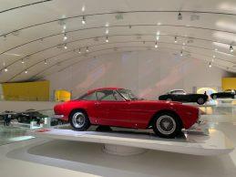 An upclose shot of a Ferrari at the Museum
