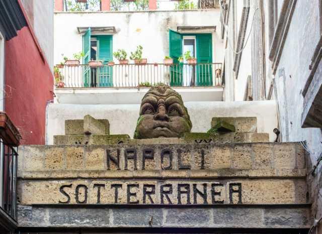 Underground Naples - tour entrance in Italy