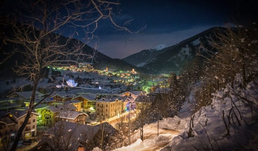 Ossana Village in the Alps at Christmas time in Italy