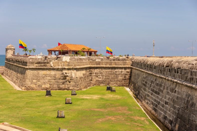 Cartagena Colombia the city walls