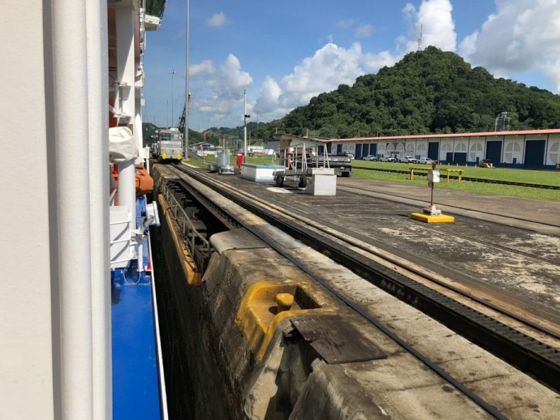 Our Ship in the Panama Canal